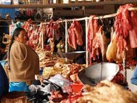 The meat market, Cusco
